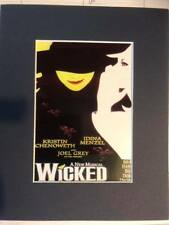 Wicked the musical theatre  print copy  Broadway Idina Menzel Kristen Chenowith