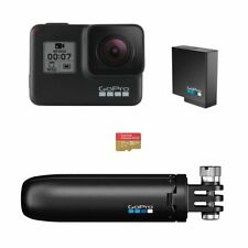 GoPro HERO7 Black Special Bundle with Shorty Pole, Extra Battery, and 32GB Card