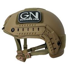 GunNook-SBH Standard Ballistic Helmet (S.B.H.) LVL IIIA HIGH CUT- Coyote Brown