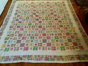 """NEW Handmade Postage Stamps Pattern Quilt  104"""" x 92"""""""