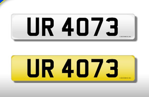 UR 4073 CHERISHED NUMBER PERSONAL PLATE