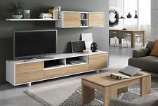 Bambi Tv Media Centre Unit Living Room Furniture White / Oak Melamine