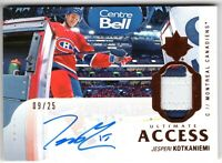 JESPERI KOTKANIEMI 2018-19 Ultimate Collection ACCESS AUTOGRAPH PATCH #09/25