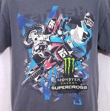 Monster Energy AMA Supercross T Shirt Motocross FIM World Championship Medium
