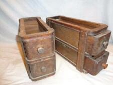 Antique Vintage Singer Treadle Sewing Machine (4) Oak Drawers & (2) Frames