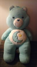 "Care Bears  BEDTIME BEAR JUMBO BIG LARGE Plush Fleece 30"" blue moon star 2002"