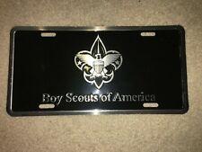 Boy Scout BSA Scouts America Black Silver Metal FDL Eagle License Plate