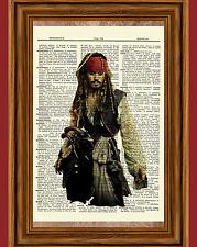 Johnny Depp Jack Sparrow Dictionary Art Print Poster Pirates of the Caribbean