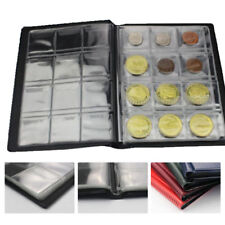 10 Pages 120Pockets Classic Coin Holder Sheets For Storage Collection Album Case