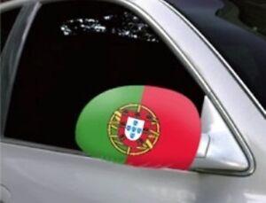 Portugal Car Mirror Flags/Covers (pair) World/Euro Cup
