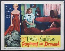 PAYMENT ON DEMAND BETTE DAVIS BARRY SULLIVAN LOBBY CARD 7