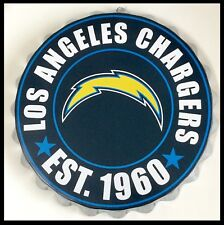 "LOS Angeles Chargers NFL Logo Bottle Top 13.5"" da appendere Wall Art Decoration"