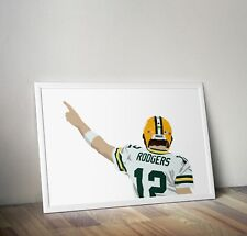 Aaron Rodgers, Green Bay Packers, NFL, Print, Poster, wall art, gift, home decor