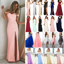 Womens Evening Cocktail Party Formal Bridesmaid Wedding Prom Gown Maxi Dresses