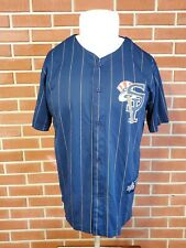 2012 Staten Island Yankees New York Penn League Jersey Large Pinstripe CHAMPIONS