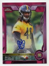2015 Topps Chrome BUD DUPREE Rookie Card RC AUTO AUTOGRAPH PINK REFRACTOR #/75
