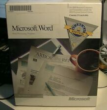 SHRINK FACTORY SEALED FULL BOX Microsoft Word 5.0  ACAD. RARE IBM MANUALS 3.5 DK