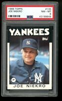 1986 Topps #135 Joe Niekro New York Yankees PSA 8 NM-MT SET BREAK! QTY Available