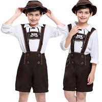 Boy Geman Oktoberfest Outfit Bavarian Holiday Fancy Dress Beer Costume Suit