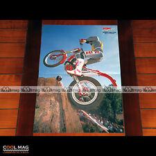 PHILIPPE BERLATIER sur BETA en 1990 - Poster Pilote Moto CROSS #PM1297
