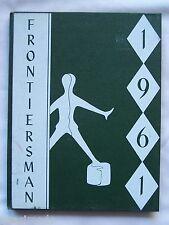 1961 LEWISTON -  PORTER HIGH SCHOOL YEARBOOK YOUNGSTOWN, NEW YORK FRONTIERSMAN