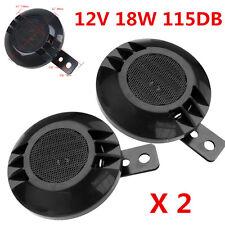 2Pcs Universal Autos Motorcycle 12V 18W Electric Air Horns 115DB Loud Waterproof
