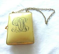 ANTIQUE VICTORIAN RARE FRENCH IVORY CELLULOID  WRIST PURSE / COMPACT