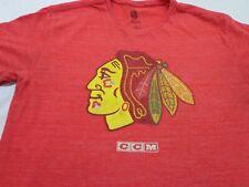 Ccm Nhl Chicago Blackhawks Hockey Patrick Kane T-Shirt Heather Red Large
