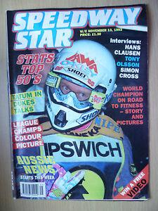 SPEEDWAY STAR MAGAZINE-Stats Top 50's- Leg Champs Colour Picture, 31 Nov 1993