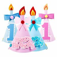 Foam Party Hat For Babies Kids Cake Smash Photo Props - Boys, Girls, Blue, Pink