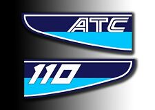 ATC 110 1982 Rear Stickers Mud Guard Fender Honda Trike Decals