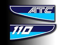 ATC 110 1982 Rear Stickers Mud Guard Fender Honda Trike Decals