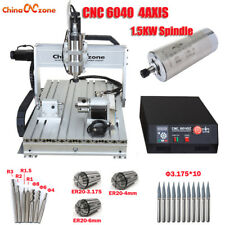 1500W CNC  6040 Router 4 Axis Mach3 USB Engraver Engraving Machine & Ball Screw