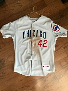 Chicago Cubs 2010 Game Issued Jersey Jackie Robinson Day