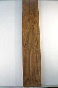 Spekulatiusbrett Spekulatiusform Holz einseitig handgeschnitzt ca 100 Jahre 2