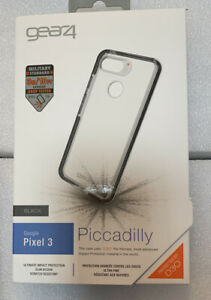 New Genuine Gear4 Piccadilly Black Case For Google Pixel 3