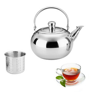 1L-2.5L Stainless Steel Tea Kettle Teapot Stove Top Fast Boil Water/Coffee