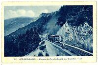 CPA 73 Savoie Aix-les-Bains Chemin de fer du Revard Une tranchée train
