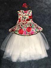 Ballet Rose Dance Recital Costume Girls Ballerina Halloween Elegant Lyrical