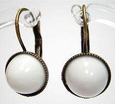 Mode-Ohrschmuck im Hänger-Stil aus Kupfer mit Cabochon-Schliffform für Damen