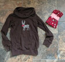Sz L 10-12 Gymboree ALPINE SWEETIE Deer Reindeer Top Brown NWT Leggings Red Pant
