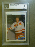 PAVEL BURE 1990-91 Upper Deck Young Guns #526 RC Graded BGS 8 NM-MT CANUCKS