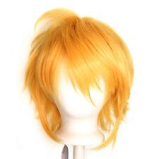 13/'/' Shaggy Messy w// Long Bangs Cerulean Blue Visual Kei Cosplay Wig NEW