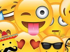 Emojis Emoticon Edible Party Cake Image Topper Frosting Icing Sheet