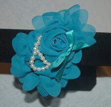 Haarreifen Schleife  Kinderhaarreifen Blume Perlen Satin Organza Hairhoop
