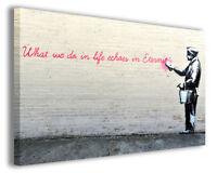 Quadro moderno Banksy vol XVI stampa su tela canvas arredamento moderno poster
