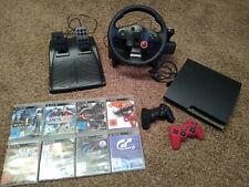 Playstation 3 mit 2 Controllern, Lenkrad und div. Spielen