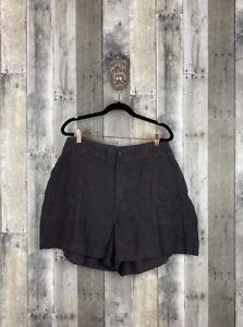 Lou & Grey For Loft Grey Linen Shorts Size XXL
