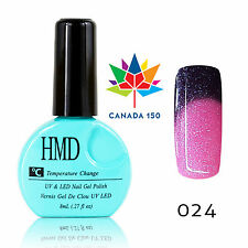CANADA HMD Soak Off UV LED Gel Nails Polish Temperature Changing # 024 fast cure
