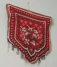 Antique Victorian Beadwork Shield Wall Hanging Banner